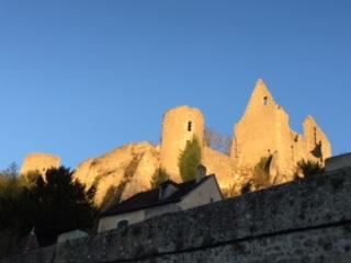 Château, soirée ensoleillée