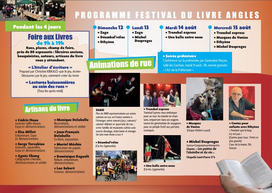 Programme du 27è Festival du Livre
