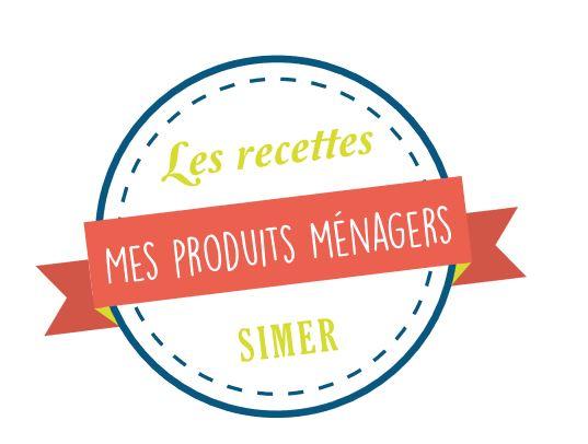 """badge zéro déchets """"les recettes, mes produits ménagers"""""""