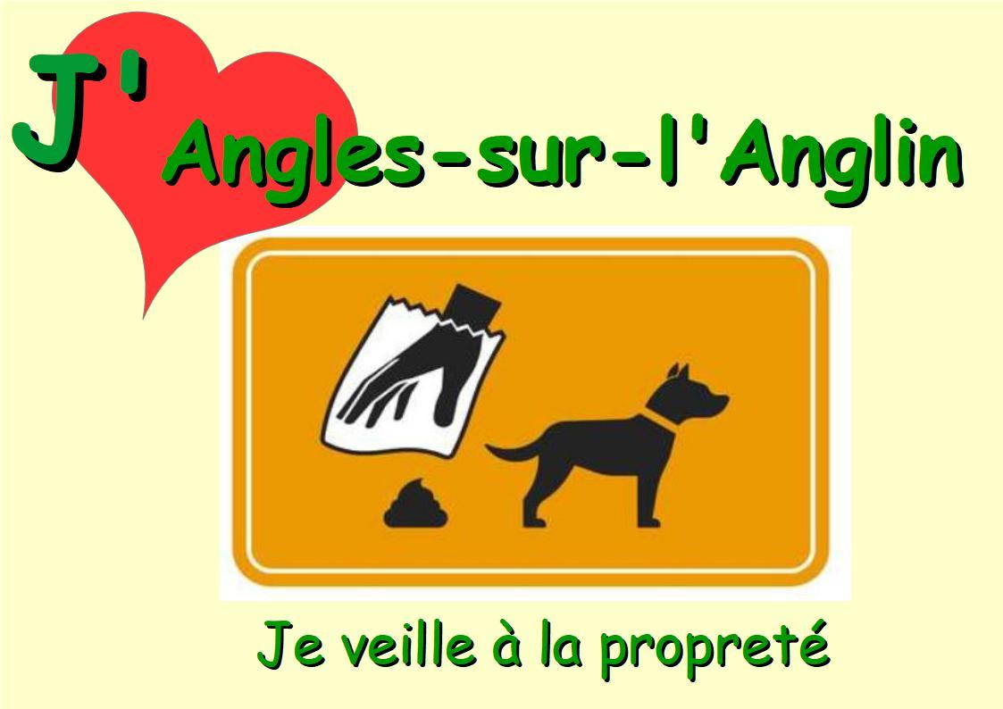 pannonceau, J'aime Angles sur l'Anglin, je veille à la propreté: je ramasse les crottes de mon chien