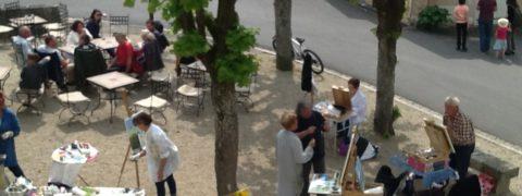 image: peintres sur la place